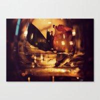 GLASS ROSE Canvas Print