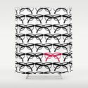 Optometrist Eye Glasses Black Pattern Print Shower Curtain