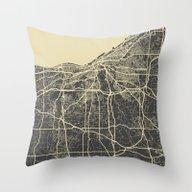 Cleveland Map Throw Pillow