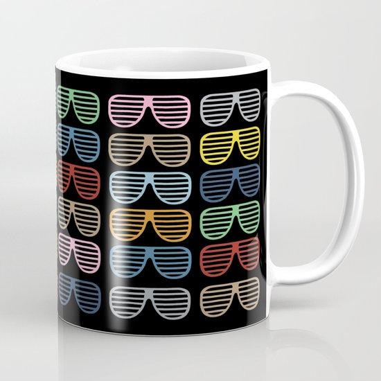 Rainbow Shutter Shades at Night Mug