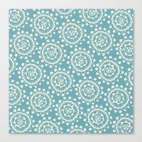 Wheels: Blue Canvas Print
