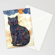 My blue cat.   Stationery Cards