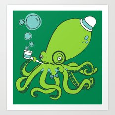 Mr.Octopus Art Print