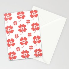lucky flower coral Stationery Cards