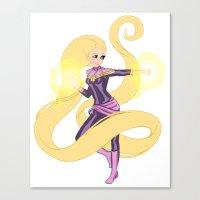 Captain Blondie Canvas Print