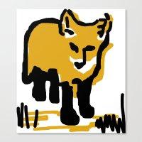 Just a little mustard Canvas Print