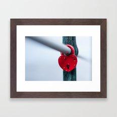 Red Heart Lock Framed Art Print