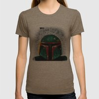 Boba Fett Palette Knife … Womens Fitted Tee Tri-Coffee SMALL