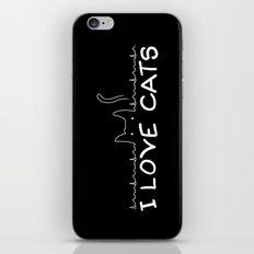 I Love Cats iPhone & iPod Skin
