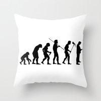 Evolution To Mobile  Throw Pillow