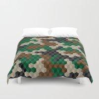Cubouflage Duvet Cover