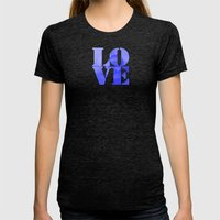 Danish Heart Blues Womens Fitted Tee Tri-Black SMALL