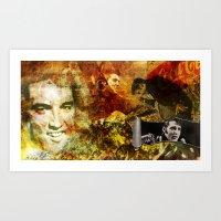 Elvis Presley - Vintage … Art Print