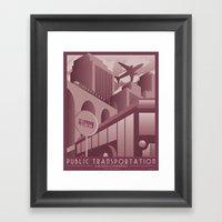 Transportation Advertise… Framed Art Print