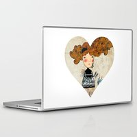 alice in wonderland Laptop & iPad Skins featuring Alice in Wonderland by Kristina Sabaite