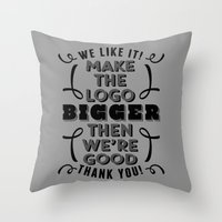Minor Comment Throw Pillow