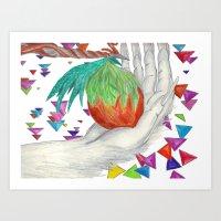 Alien Fruit Art Print