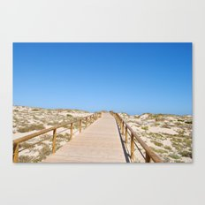 Along the boardwalk Canvas Print