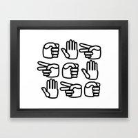 Rock Paper Scissors Framed Art Print