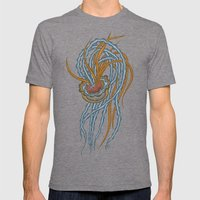 Jellyfish Mens Fitted Tee Tri-Grey SMALL