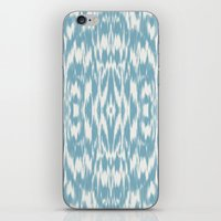 Ikat: Light Blue Ivory iPhone & iPod Skin