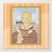Lady With Unicorn By Rap… Canvas Print