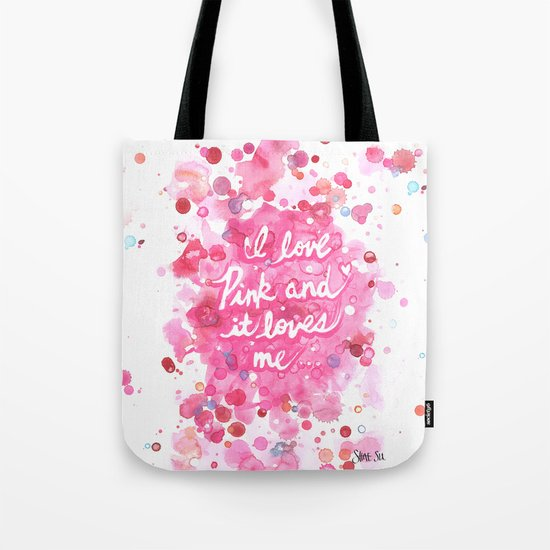Pink Love Tote Bag