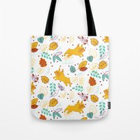 Frenchie Pattern Tote Bag