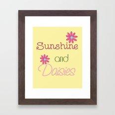 Sunshine and Daisies Framed Art Print