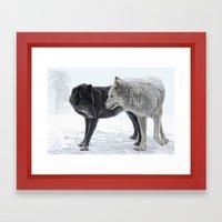 ebony and ivory   Framed Art Print