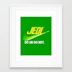 Brand Wars: Jedi - green lightsaber Framed Art Print