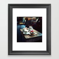 Donuts And Cappuccino Br… Framed Art Print