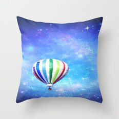 Star Balloon Throw Pillow