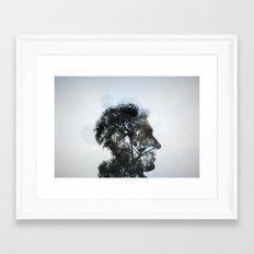 Tr(u)ee love double exposure Framed Art Print