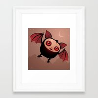 RedEye The Vampire Bat B… Framed Art Print