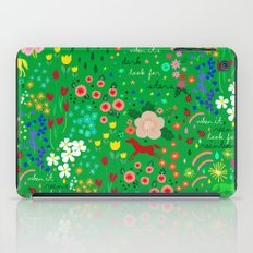 Emarald Rain-Pattern iPad Case
