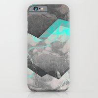 iPhone Cases featuring Shadows of Grey and Blue by cafelab