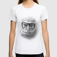 WISE OWL Womens Fitted Tee Ash Grey SMALL