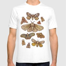 Moths Mens Fitted Tee SMALL White