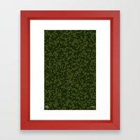 Comp Camouflage / Green Framed Art Print