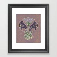 Art Deco Flowers Framed Art Print