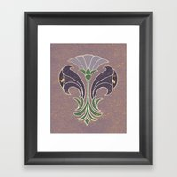 Art Deco Flowers Framed Art Print