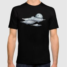 Moon SMALL Black Mens Fitted Tee