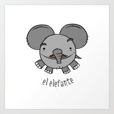 el elefante Art Print