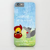 iPhone & iPod Case featuring Little Red Riding Hood & Lovely Wolf ♥ by Nhani · Graphic Design & Photography