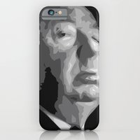 iPhone & iPod Case featuring Alfred Hitchcock by  David Somers