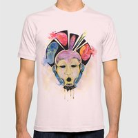 Veto's Mask Mens Fitted Tee Light Pink SMALL