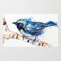 Black-Throated Blue Warbler Rug