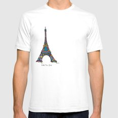 eiffel tower White Mens Fitted Tee SMALL