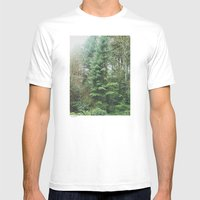 With The Trees Mens Fitted Tee White SMALL